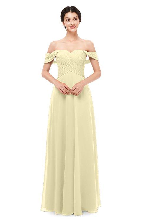 ColsBM Lydia Anise Flower Bridesmaid Dresses Sweetheart A-line Floor Length Modern Ruching Short Sleeve
