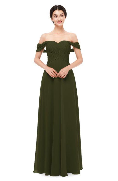 ColsBM Lydia Beech Bridesmaid Dresses Sweetheart A-line Floor Length Modern Ruching Short Sleeve
