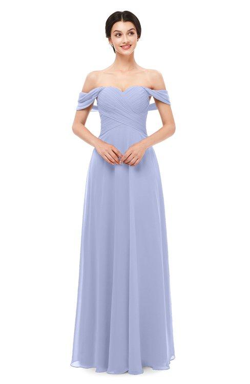 ColsBM Lydia Blue Heron Bridesmaid Dresses Sweetheart A-line Floor Length Modern Ruching Short Sleeve
