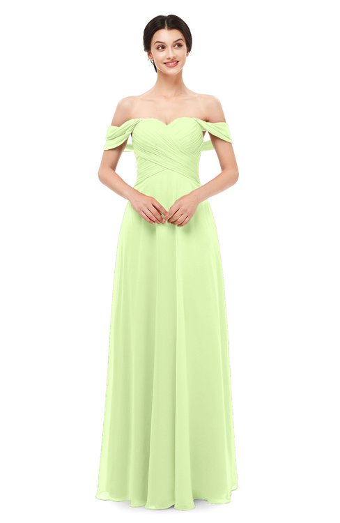 ColsBM Lydia Butterfly Bridesmaid Dresses Sweetheart A-line Floor Length Modern Ruching Short Sleeve