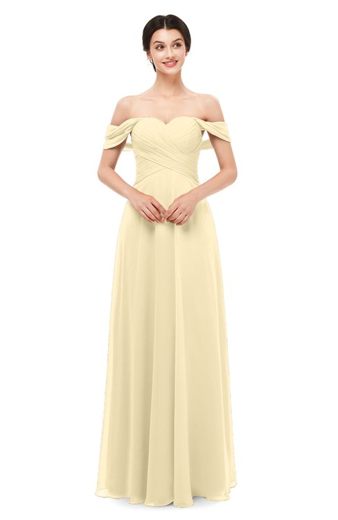 ColsBM Lydia Cornhusk Bridesmaid Dresses Sweetheart A-line Floor Length Modern Ruching Short Sleeve