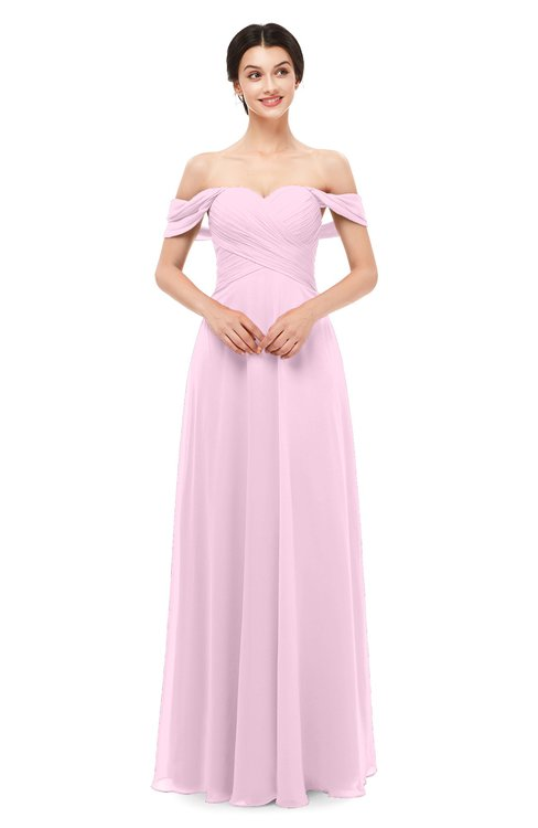 ColsBM Lydia Fairy Tale Bridesmaid Dresses Sweetheart A-line Floor Length Modern Ruching Short Sleeve