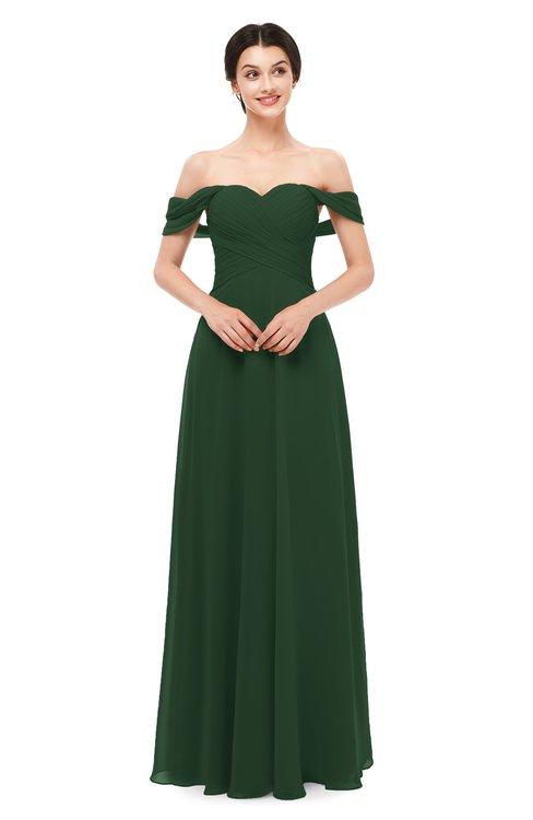 ColsBM Lydia Hunter Green Bridesmaid Dresses Sweetheart A-line Floor Length Modern Ruching Short Sleeve