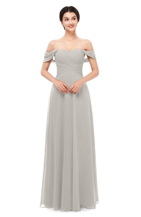 ColsBM Lydia Hushed Violet Bridesmaid Dresses Sweetheart A-line Floor Length Modern Ruching Short Sleeve