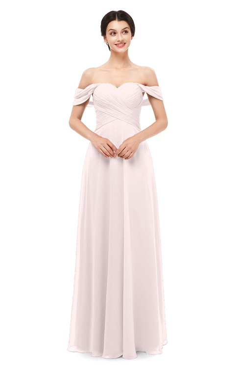 ColsBM Lydia Light Pink Bridesmaid Dresses Sweetheart A-line Floor Length Modern Ruching Short Sleeve