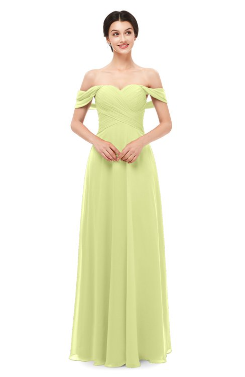 ColsBM Lydia Lime Sherbet Bridesmaid Dresses Sweetheart A-line Floor Length Modern Ruching Short Sleeve