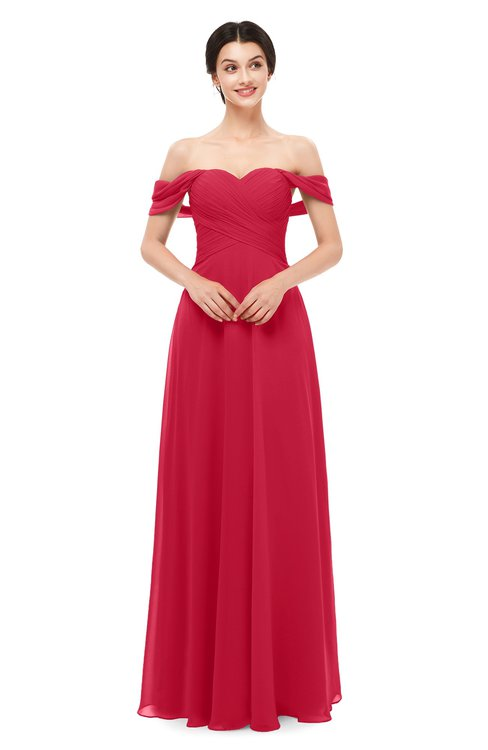 ColsBM Lydia Lollipop Bridesmaid Dresses Sweetheart A-line Floor Length Modern Ruching Short Sleeve