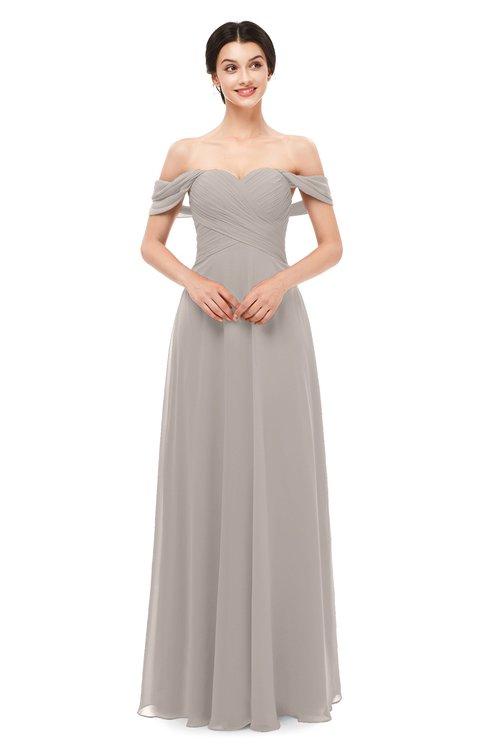ColsBM Lydia Mushroom Bridesmaid Dresses Sweetheart A-line Floor Length Modern Ruching Short Sleeve