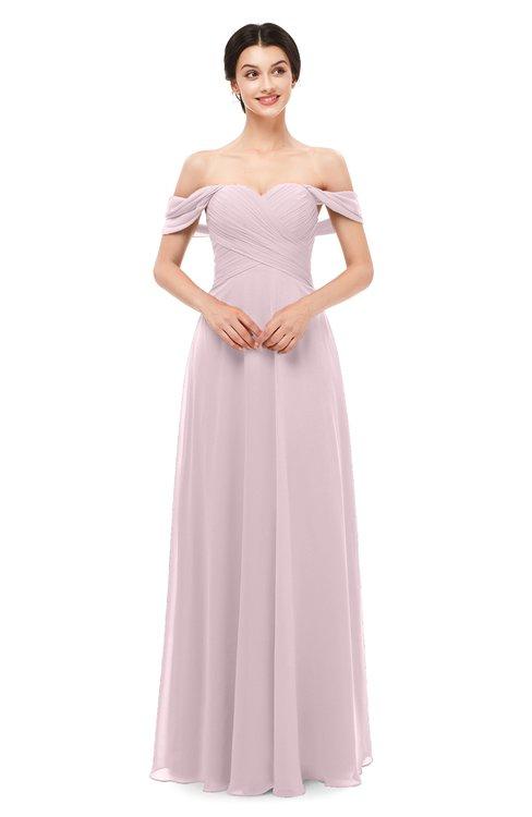 ColsBM Lydia Pale Lilac Bridesmaid Dresses Sweetheart A-line Floor Length Modern Ruching Short Sleeve