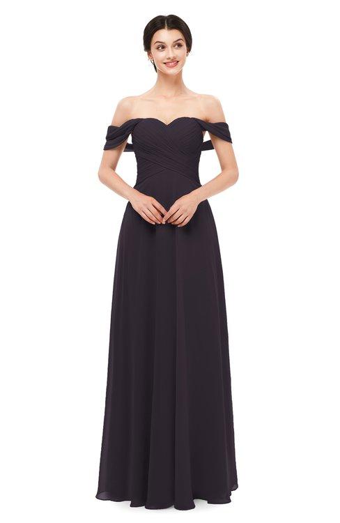 ColsBM Lydia Perfect Plum Bridesmaid Dresses Sweetheart A-line Floor Length Modern Ruching Short Sleeve