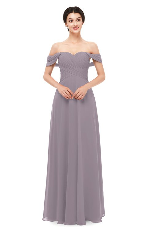 ColsBM Lydia Sea Fog Bridesmaid Dresses Sweetheart A-line Floor Length Modern Ruching Short Sleeve