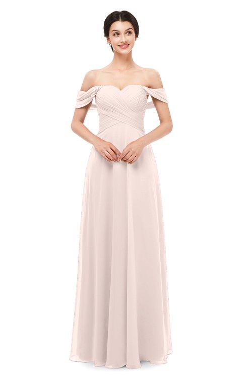 ColsBM Lydia Silver Peony Bridesmaid Dresses Sweetheart A-line Floor Length Modern Ruching Short Sleeve
