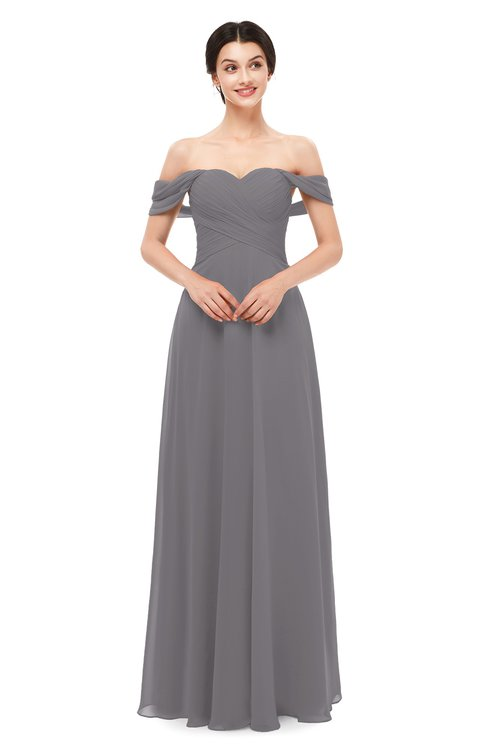 ColsBM Lydia Storm Front Bridesmaid Dresses Sweetheart A-line Floor Length Modern Ruching Short Sleeve