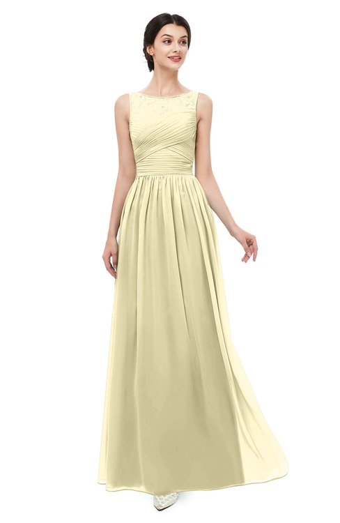 ColsBM Skyler Anise Flower Bridesmaid Dresses Sheer A-line Sleeveless Classic Ruching Zipper