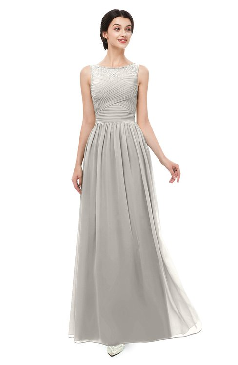 ColsBM Skyler Ashes Of Roses Bridesmaid Dresses Sheer A-line Sleeveless Classic Ruching Zipper