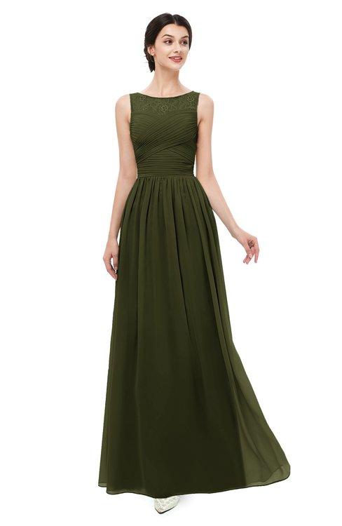 ColsBM Skyler Beech Bridesmaid Dresses Sheer A-line Sleeveless Classic Ruching Zipper