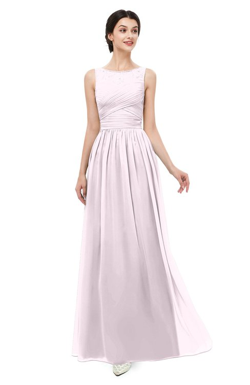 ColsBM Skyler Blush Bridesmaid Dresses Sheer A-line Sleeveless Classic Ruching Zipper