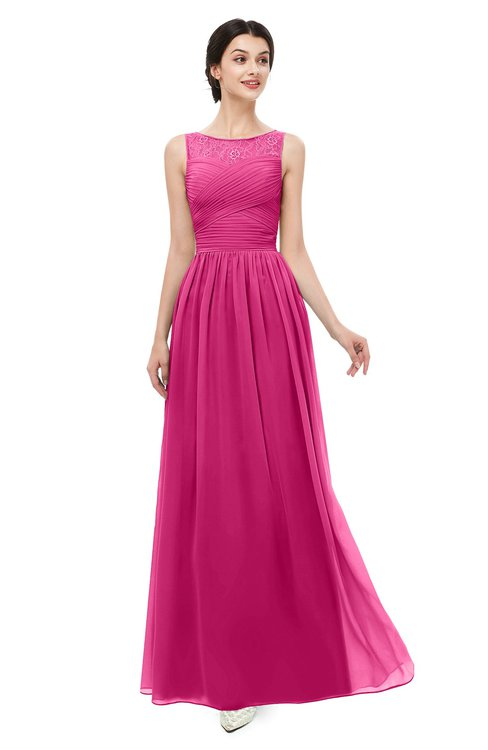 ColsBM Skyler Cabaret Bridesmaid Dresses Sheer A-line Sleeveless Classic Ruching Zipper