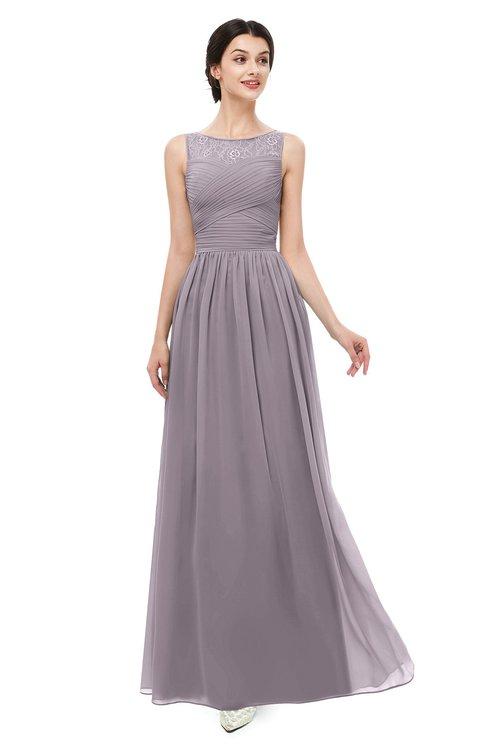 ColsBM Skyler Cameo Bridesmaid Dresses Sheer A-line Sleeveless Classic Ruching Zipper