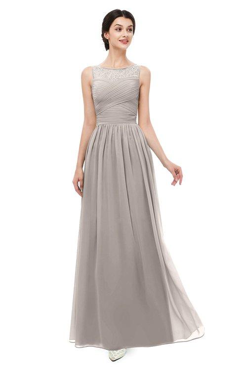 ColsBM Skyler Fawn Bridesmaid Dresses Sheer A-line Sleeveless Classic Ruching Zipper