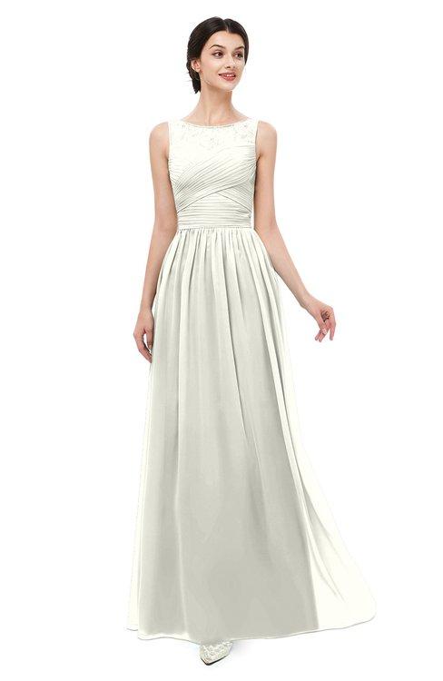 ColsBM Skyler Ivory Bridesmaid Dresses Sheer A-line Sleeveless Classic Ruching Zipper