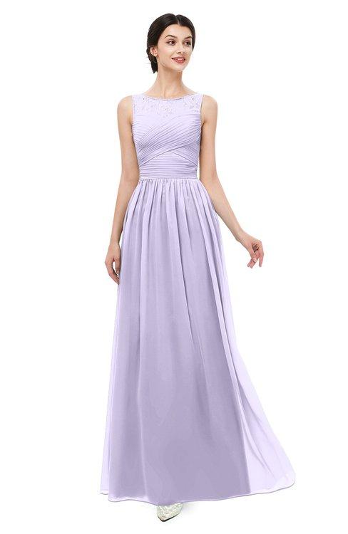 ColsBM Skyler Light Purple Bridesmaid Dresses Sheer A-line Sleeveless Classic Ruching Zipper
