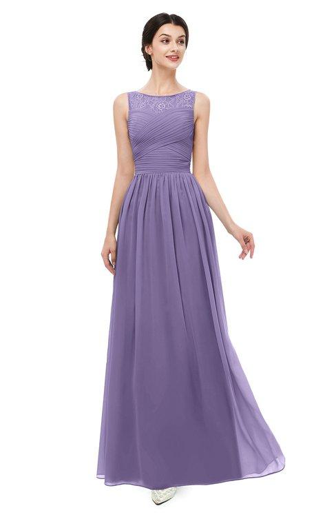 ColsBM Skyler Lilac Bridesmaid Dresses Sheer A-line Sleeveless Classic Ruching Zipper