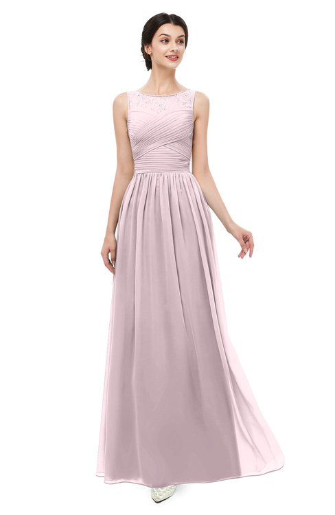 ColsBM Skyler Pale Lilac Bridesmaid Dresses Sheer A-line Sleeveless Classic Ruching Zipper