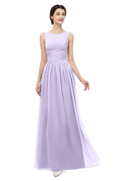 ColsBM Skyler Pastel Lilac Bridesmaid Dresses Sheer A-line Sleeveless Classic Ruching Zipper