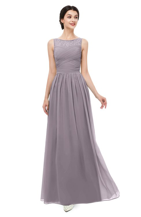 ColsBM Skyler Sea Fog Bridesmaid Dresses Sheer A-line Sleeveless Classic Ruching Zipper