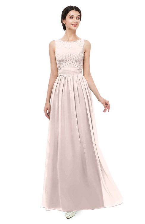 ColsBM Skyler Silver Peony Bridesmaid Dresses Sheer A-line Sleeveless Classic Ruching Zipper