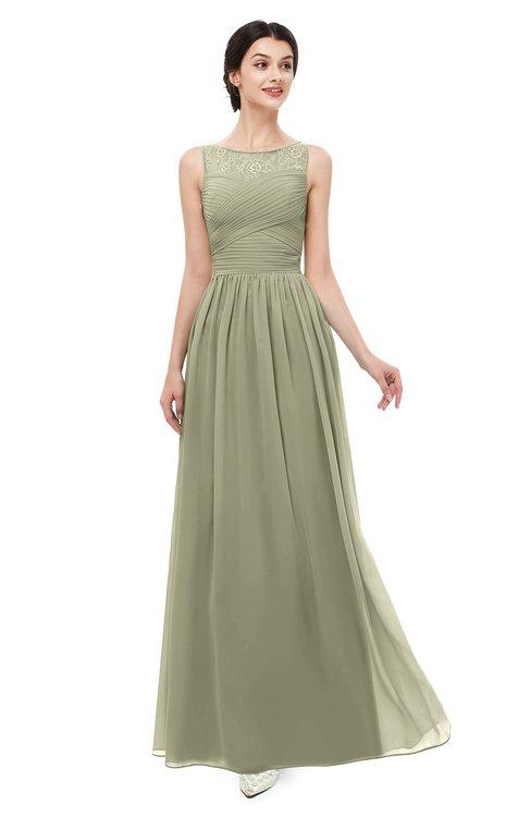 ColsBM Skyler Sponge Bridesmaid Dresses Sheer A-line Sleeveless Classic Ruching Zipper