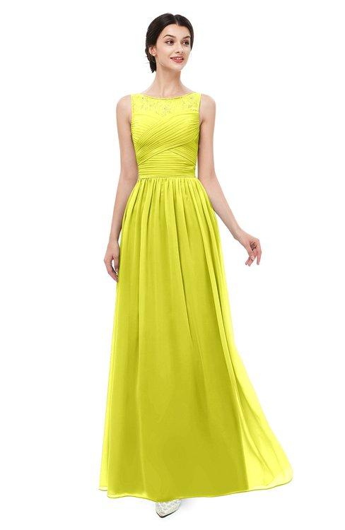 ColsBM Skyler Sulphur Spring Bridesmaid Dresses Sheer A-line Sleeveless Classic Ruching Zipper