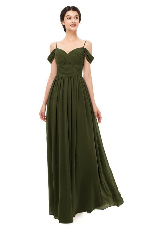 ColsBM Angel Beech Bridesmaid Dresses Short Sleeve Elegant A-line Ruching Floor Length Backless