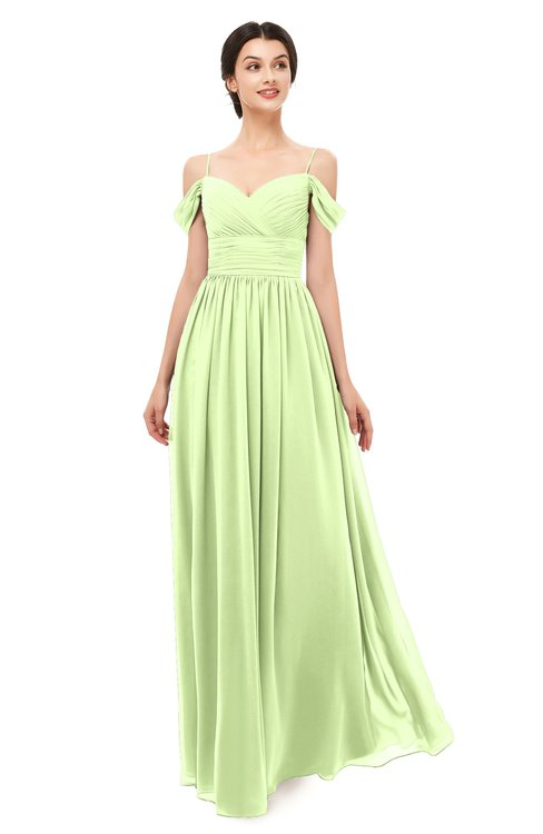 ColsBM Angel Butterfly Bridesmaid Dresses Short Sleeve Elegant A-line Ruching Floor Length Backless