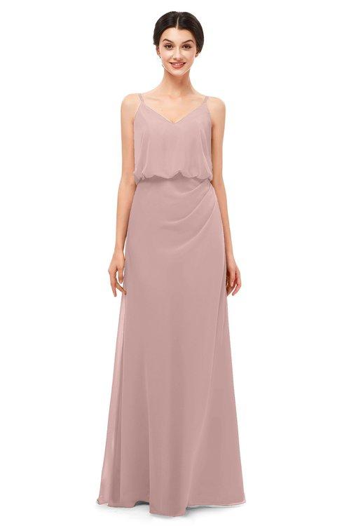 3bf65224a658 ... ColsBM Sasha Blush Pink Bridesmaid Dresses Column Simple Floor Length  Sleeveless Zip up V-neck ...