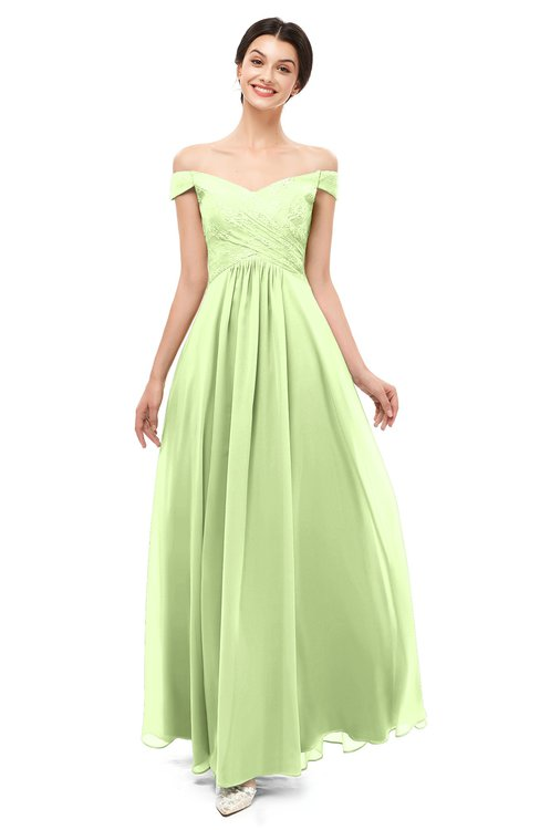 ColsBM Lilith Butterfly Bridesmaid Dresses Off The Shoulder Pleated Short Sleeve Romantic Zip up A-line