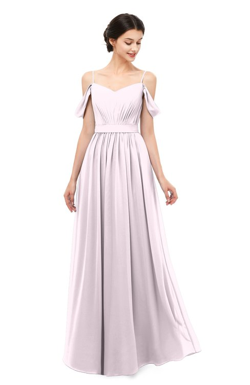 4b58a9dbe0d ColsBM Elwyn Blush Bridesmaid Dresses Floor Length Pleated V-neck Romantic  Backless A-line
