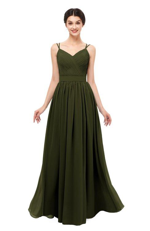 ColsBM Bryn Beech Bridesmaid Dresses Floor Length Sash Sleeveless Simple A-line Criss-cross Straps