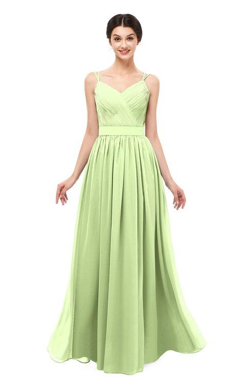 ColsBM Bryn Butterfly Bridesmaid Dresses Floor Length Sash Sleeveless Simple A-line Criss-cross Straps