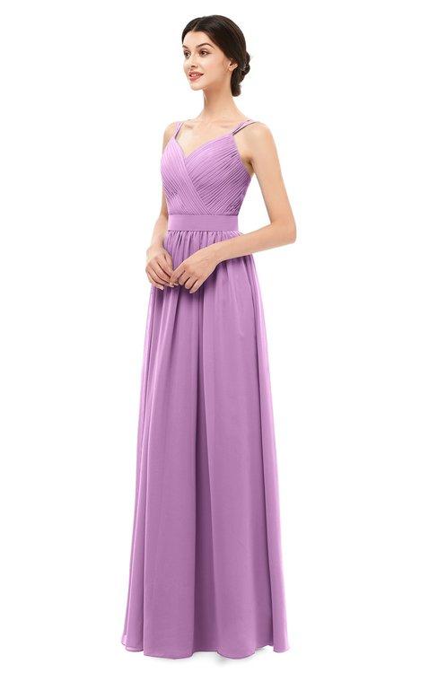 a08366a9c7ad ColsBM Bryn Orchid Bridesmaid Dresses Floor Length Sash Sleeveless Simple A-line  Criss-cross .
