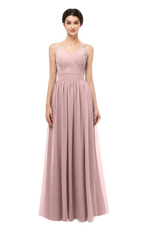 0d1cd52d1c ... ColsBM Bryn Silver Pink Bridesmaid Dresses Floor Length Sash Sleeveless  Simple A-line Criss- ...