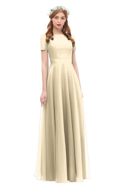 ColsBM Morgan Angora Bridesmaid Dresses Zip up A-line Traditional Sash Bateau Short Sleeve