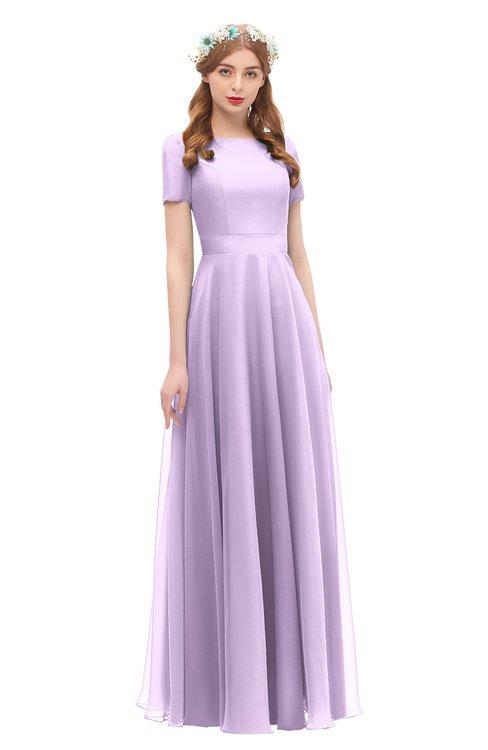 ColsBM Morgan Lavendula Bridesmaid Dresses Zip up A-line Traditional Sash Bateau Short Sleeve