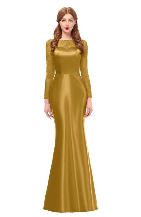Long Bridesmaid Dresses Harvest Gold