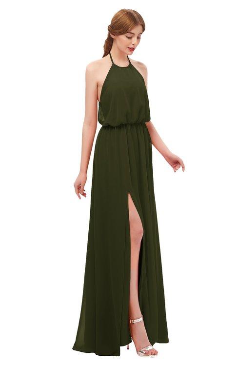 ColsBM Jackie Beech Bridesmaid Dresses Casual Floor Length Halter Split-Front Sleeveless Backless