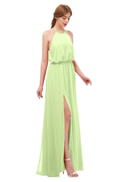 ColsBM Jackie Butterfly Bridesmaid Dresses Casual Floor Length Halter Split-Front Sleeveless Backless