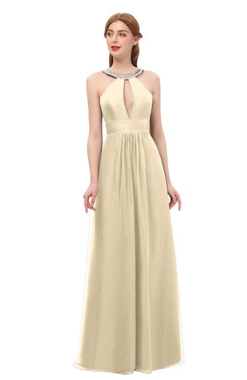 ColsBM Jayda Angora Bridesmaid Dresses Zipper Halter Glamorous Sleeveless Crystals Floor Length