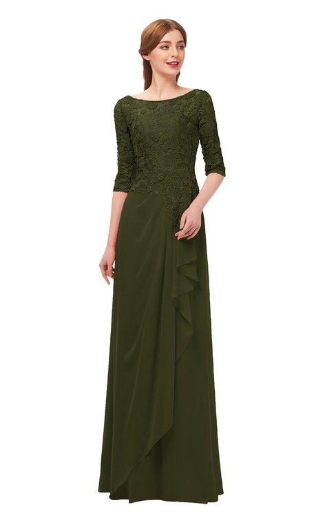 ColsBM Jody Beech Bridesmaid Dresses Elbow Length Sleeve Simple A-line Floor Length Zipper Lace