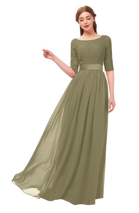 ColsBM Payton Boa Bridesmaid Dresses Sash A-line Modest Bateau Half Length Sleeve Zip up